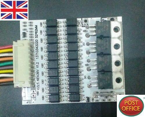 Protezione della batteria BMS Scheda PCB PER 10 confezioni 36 V Li-ion cellulare MAX 40 A W SALDO