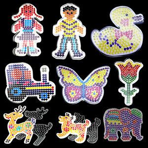 9PCS Set Clear DIY Perler Hama Beads Peg Board Pegboard Template Funny Toy Craft