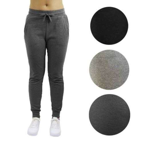 2-Pack Womens Slim-Fit French Terry Jogger Sweatpants Sports Lounge S M L XL