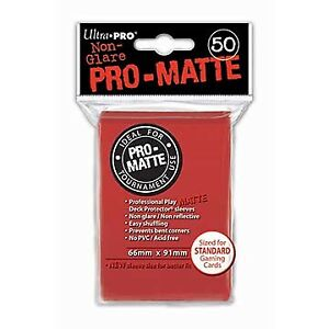 Ultra-Pro-Pro-Matte-Deck-Protector-Sleeves-Pack-Red-50ct