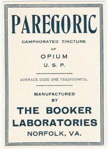 Booker-Laboratories-Paregoric-Camphorated-Tincture-of-Opium-Medicine-Label