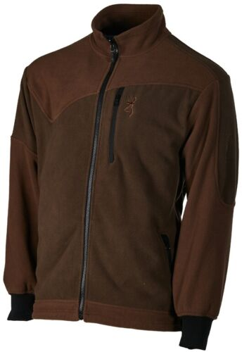 Browning powerfleece One Green /& Brown zippin Giacca in Pile