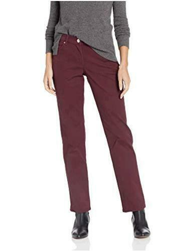 LEE Women's Relaxed Fit Straight Leg Jean, raisin,