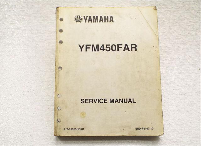 Factory Service Repair Manual Yfm450 Yamaha Grizzly 450