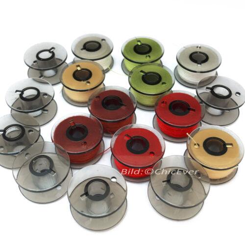 100 bobinas universal las bobinas de hilo plástico F las máquinas de coser transparente negro