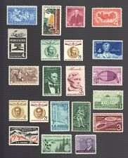USA,Sc# 1100 &1104-23, 1958 Commemorative Set, MINT, NH, OG