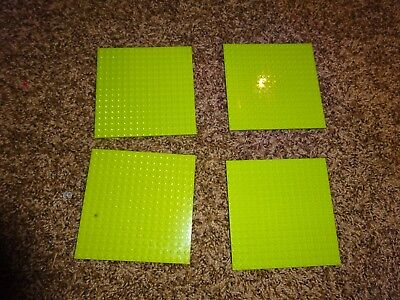 "LEGO Lot of 4 Base plates TAN 16x16 dot 5/""x5/"" square base plate"