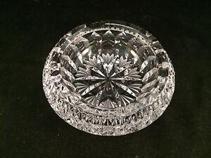 Round-Glass-4-Place-Ashtray-6-034-Diameter