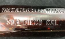 THE SAN DIEGO BREWING Co Beer Bottle 1 Quart Antique 126 Amber Rare Flip Top