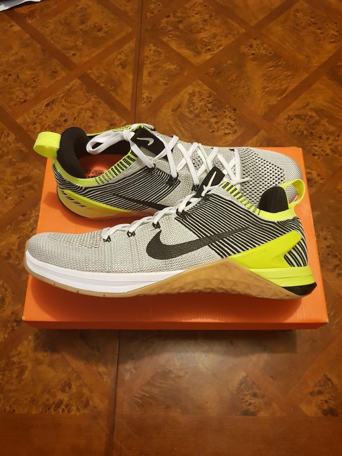 Nike Metcon DSX Flyknit 2 MENS Training White Black 924423-107 sz 11.5 New