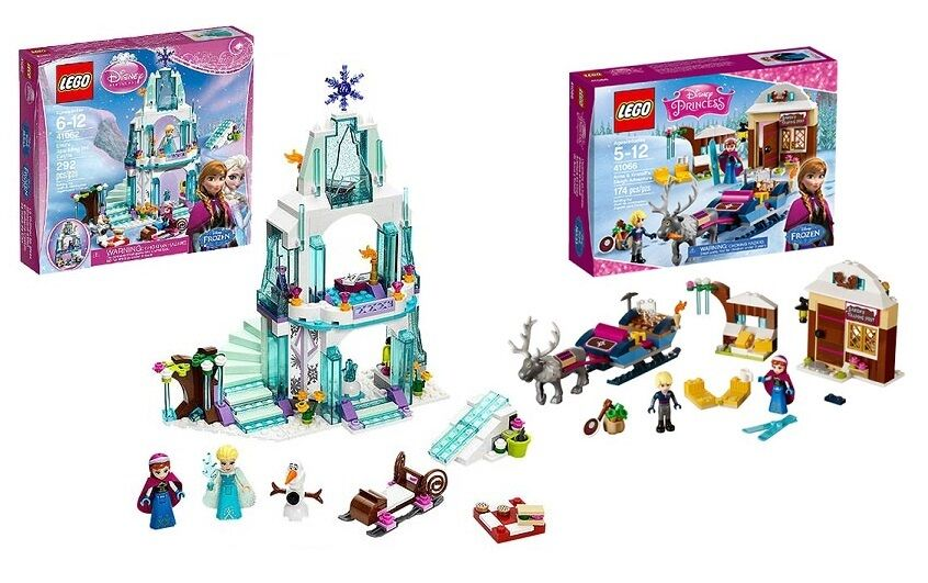 Lego New Sealed Set Lot Frozen Elsa Elsa Elsa Ice Castle + Ann Kristoff Sleigh 41062 41066 cce96e
