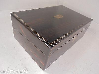 Antique Large Coromandel   Writing Slope Box  ,     ref 860