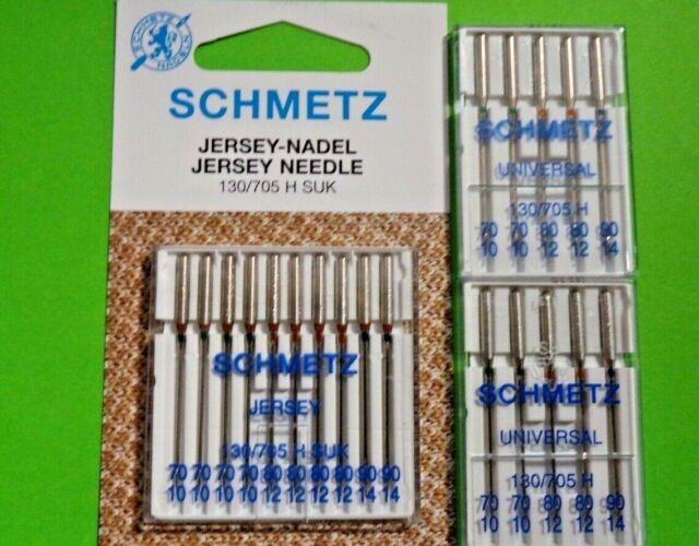 20 Nähmaschinen Nadeln SCHMETZ Jersey und Universal 130/705 H Stärke 70 bis 90