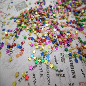 NEW-DIY-3mm-2000pcs-sparkling-5-star-loose-sequins-Paillettes-DIY-Wedding-X2