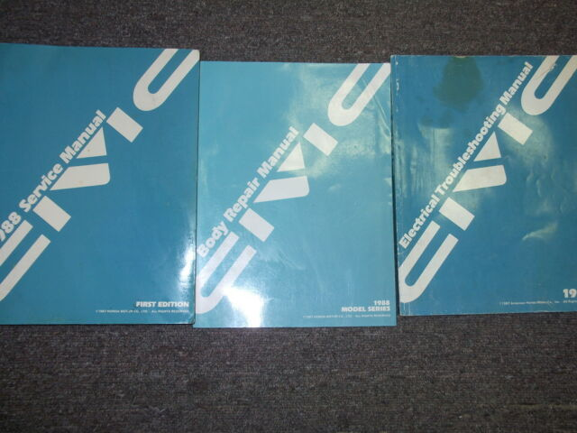 1988 Honda Civic Service Shop Repair Manual Set Oem W Wiring Diagram   Body Book