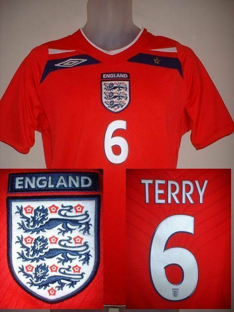 England JOHN TERRY Football Soccer Shirt Jersey UMBRO 2008-10 Adult S L XL XXL