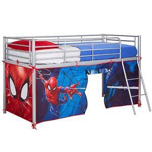Spiderman-Mid-Sleeper-Lit-Tente-Salon-Enfants-Chambre-Jeu-Amusant