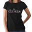 HAIR SALON Pink Crystal Design Fitted Ladies T Shirt Hairdressers ANY SIZE