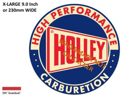VINTAGE  HOLLEY GASOLINE DECAL STICKER LARGE 9 INCH DIA USA