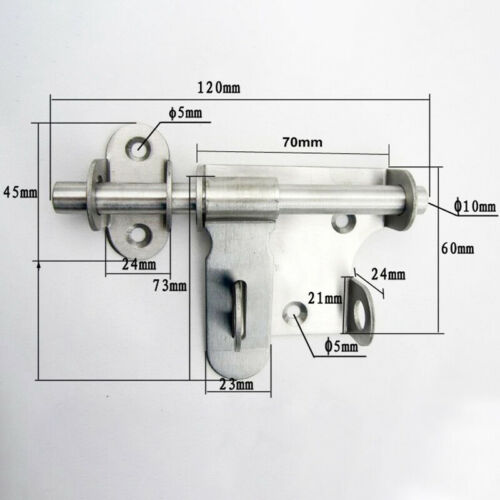 Stainless Steel Safety Anti-theft Door Locks Gate Latch Barrel Bolts Accessories