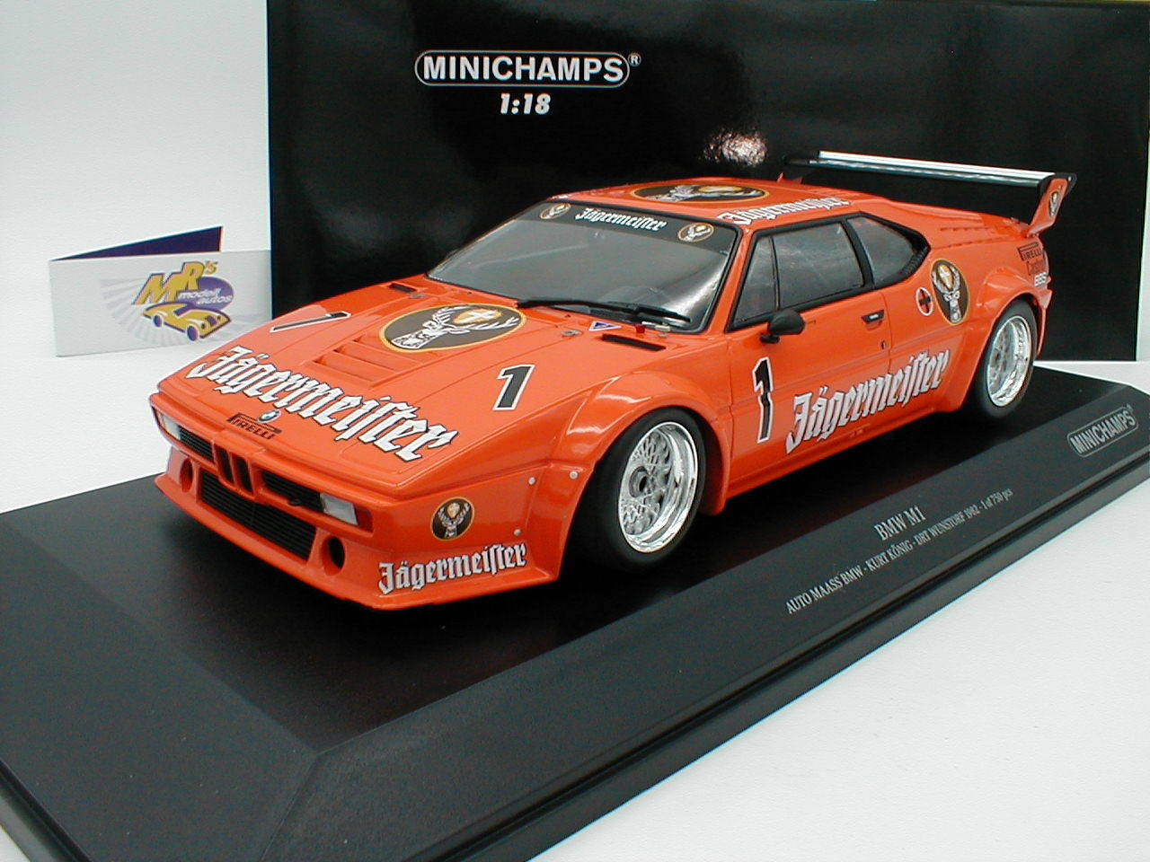 Minichamps 155822901 - BMW M1 DRT Wunstorf 1982 K. König   JÄGERMEISTER   1 18    Jeder beschriebene Artikel ist verfügbar