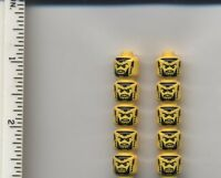 Lego X10 Yellow Minifig, Head Beard Black With Trimmed Chin Shadow Knight Castle