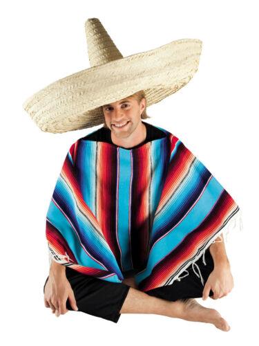 Sombrero riesengroß 80cm bunt oder natur Mexikaner Strohhut Partyhut