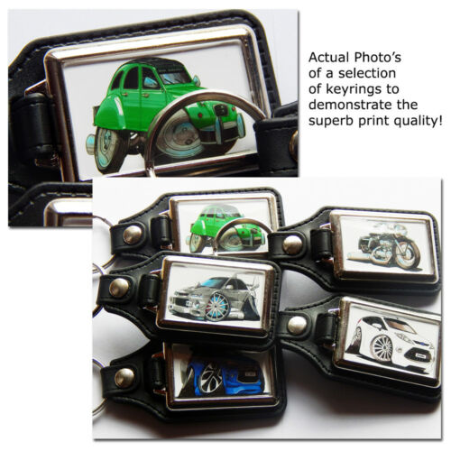 TOYOTA LAND CRUISER 4x4 Car Koolart Leather and Chrome Keyring