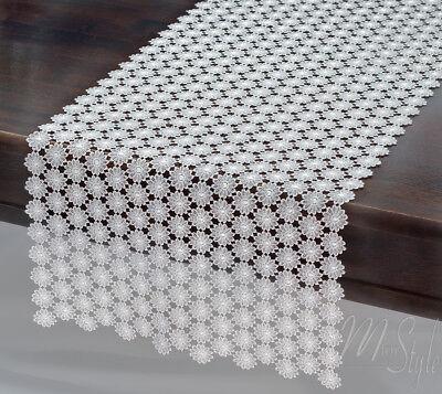 "MODERN TABLE RUNNER GOLDEN SEQUIN PATTERN LONG UNIQUE 13.8/""X71/"" 35CM X 180CM"