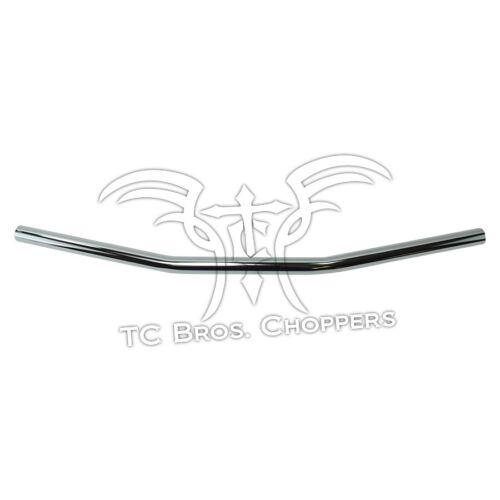 """1/"""" Drag Bar Handlebars Chrome Dimpled Sportster Dyna Bobber Chopper ape TC Bros"""