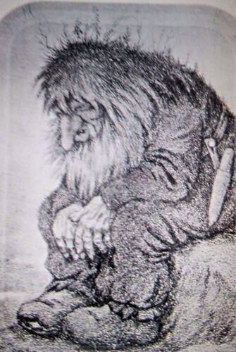 NEW Norwegian Troll Thinking Theodor Kittelsen Serving Tray