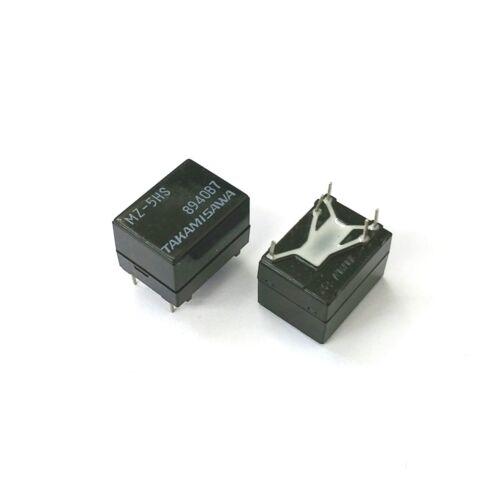 High Sensitivity Coil PC Mount Relay Lot of 2 NEW Takamisawa MZ-5HS SPDT 5V DC