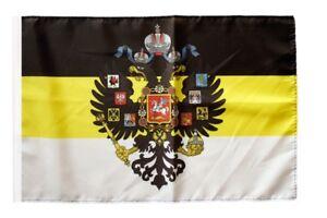 Russland-Romanow-mit-Wappen-1858-1883-Banner-historische-russische-Fahnen-Flagge