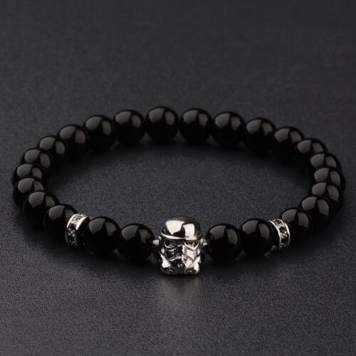 Onyx Stormtrooper beaded bracelet