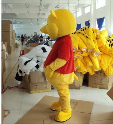 2018 Winnie The Pooh Bear /&Tigger Mascot Costume Adult Cosplay Dress Parade Suit
