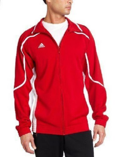 Adidas Men/'s Climalite Track Pro Team Jacket Red//White Top Gym Sport P52971