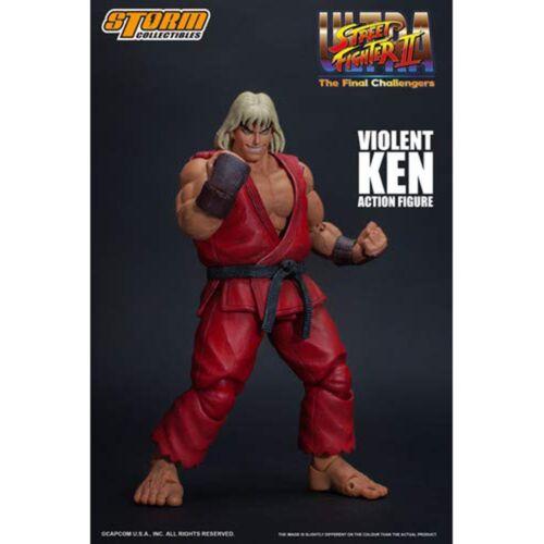 Storm Collectibles Street Fighter II Ultra Final violent Ken 7 in Figure environ 17.78 cm