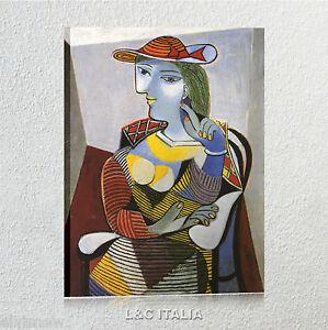 Picasso Donna seduta QUADRO SU TELA 50x70 cm STAMPA ARTE PER SALOTTO ...