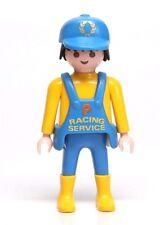 Playmobil Figure Racing Formula 1 Indy Race Car Pit Crew Service Mechanic 3738