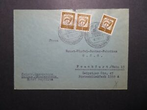 Germany-1962-Cover-Event-Cancel-w-7pf-Pair-Z12149