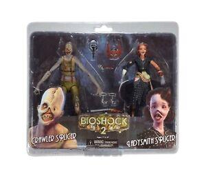 NECA-BioShock-Splicer-2-pack-Crawler-Splicer-amp-Ladysmith-Splicer-Figure-RARE-NEW