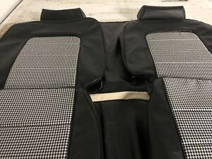 HQ-SS-Monaro-Sedan-Seat-Skins-Full-Set-Black-Long-Grain-Houndstooth-aussie-Made