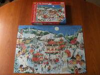 RAVENSBURGER PUZZLE The Christmas Fair - 1000 Piece Jigsaw - Complete - VGC