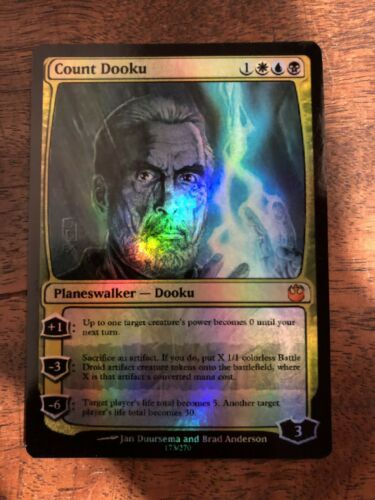 Count Dooku Magic The Gathering MTG card Planeswalker Star Wars Human Sith