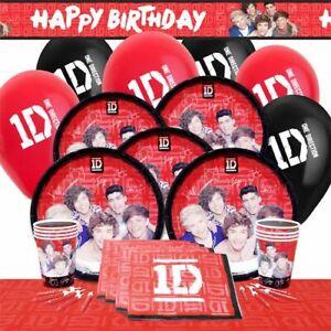One-Direction-1D-Anniversaire-Musical-Party-Vaisselle-Fournitures-Decoration-Ballon-UK