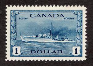 Sc# 262 - Canada - 1942 - $1 Navy Destroyer - MLH VF - superfleas - cv$80