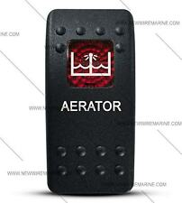 Labeled Contura II Rocker Switch Cover ONLY, Aerator (Red Window)