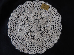 Deckchen-rund-Spachtelspitze-Omas-wertvolle-Handarbeit-natur-16-cm-Baumwolle