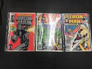 Iron-Man-288-274-8-Comic-Books-Lot-Of-3-Different-Series-amp-Cond-25-Annual