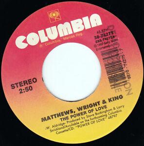 "MATTHEWS WRIGHT & KING - The Power Of Love 7"" 45"